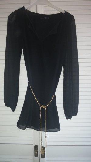 schwarzes chiffon kleid minikleid