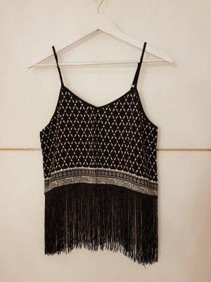 H&M Top de tirantes blanco-negro