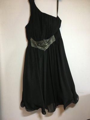 Schwarzes Cocktailkleid - One-Shoulder