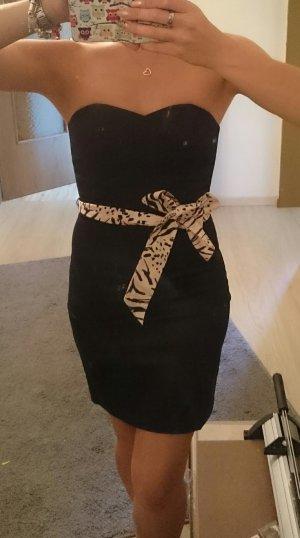 Schwarzes Cocktailkleid von H&M in 36, passt auch 34 mit Taillengürtel
