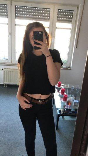 Primark Cropped shirt zwart