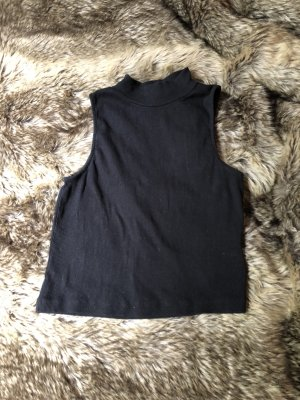 Schwarzes Cropped Top