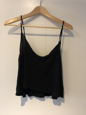 H&M Divided Cropped top zwart