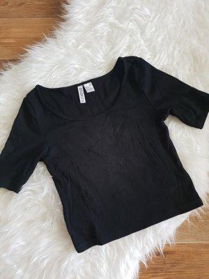 H&M Cropped Shirt black