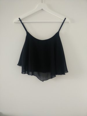 Bershka Top corto nero