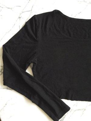 H&M Top recortado negro