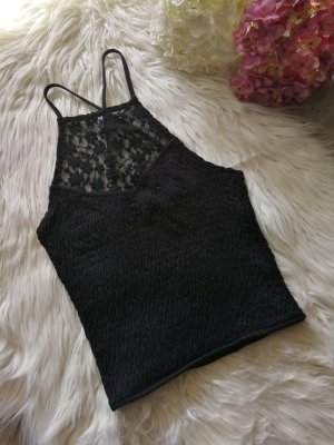 Bershka Cropped top zwart