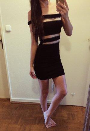 Schwarzes Cut-Out Kleid