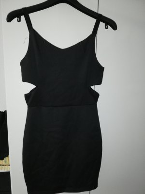 Schwarzes Cutout-Kleid