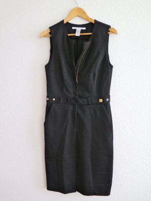 Schwarzes Diane von Furstenberg Kleid mit Reissverschluß , Größe US 10