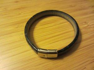 Hirsch Leather Bracelet black leather