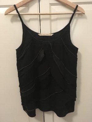 schwarzes edles Top von Zara