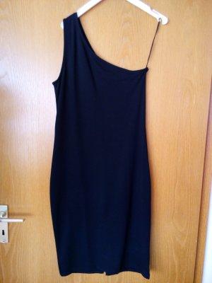 schwarzes Ein-Schulter Kleid. Gr.38