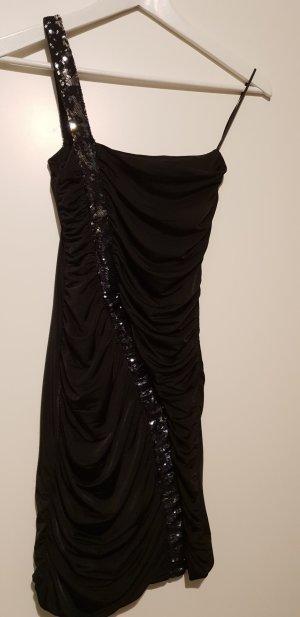 Schwarzes einärmiges Kleid