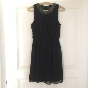Schwarzes elegantes Cocktailkleid von Trafaluc Zara in Größe XS