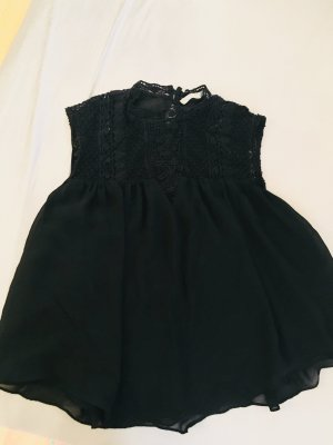 Zara Haut évasé en bas noir polyester