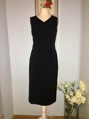 Schwarzes, elegantes Viskose-Kleid