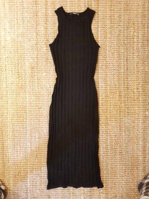 schwarzes eng anliegendes elastisches Kleid von Mango Gr.S