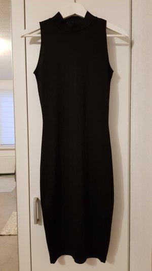 schwarzes enges midi Kleid