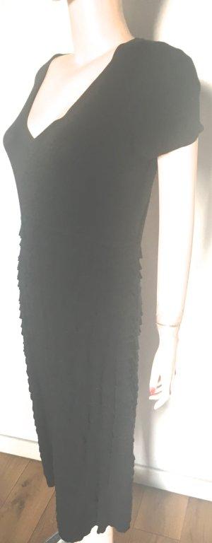 Escada Hooded Dress black mixture fibre