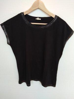 Schwarzes Esprit Shirt mit Silber (M)