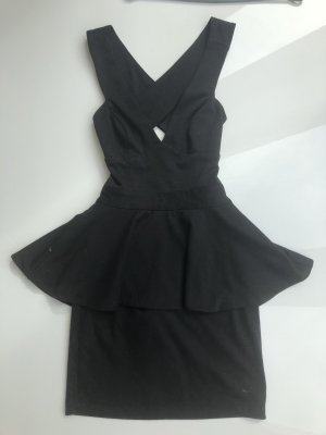 Asos Vestido peplum negro