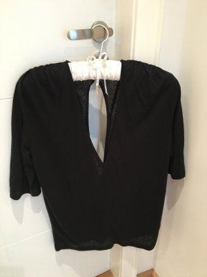 Schwarzes Filippa K Shirt mit Rückenausschnitt