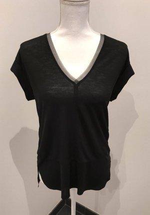 Schwarzes fließendes Shirt von zara