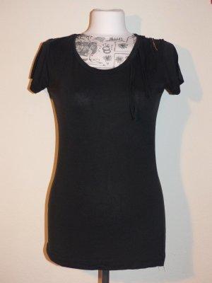 schwarzes Fransen T-Shirt von Only - Super Zustand