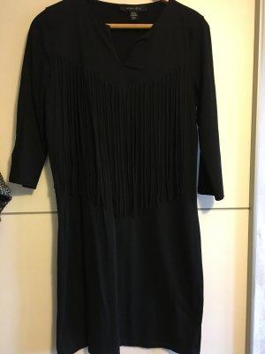 Amisu Robe à franges noir