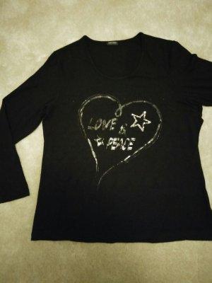Schwarzes Gerry Weber Shirt mit Schuppen-Motiv