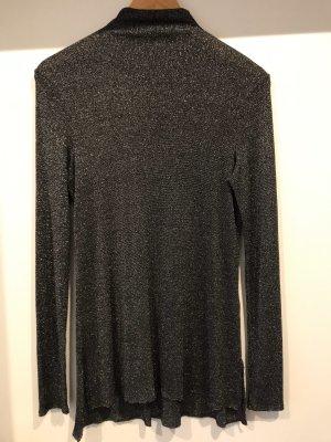 Esprit Lang shirt zwart-zilver