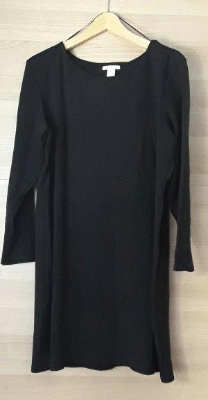 Schwarzes H&M Basic Kleid mit 3/4 Ärmeln