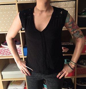 Schwarzes H&M Shirt Strick Muster M