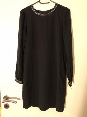 Schwarzes Hallhuber Kleid mit silberenen Nieten