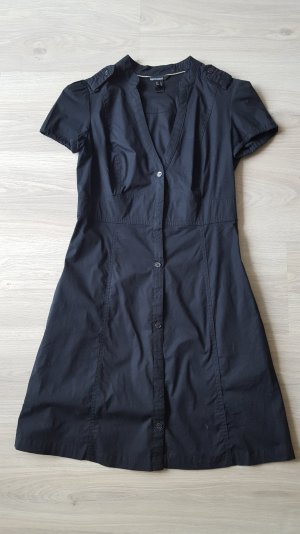 schwarzes Hemd-Blusenkleid
