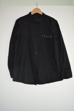 Schwarzes Hemd mit Nieten Gr. M