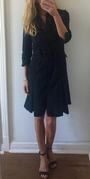 schwarzes Hemdblusen Kleid von COMMA mit Gürtel * Gr. 38 M