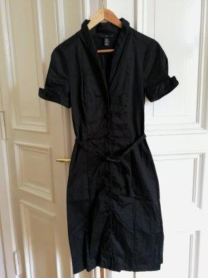 Schwarzes Hemdblusenkleid H&M