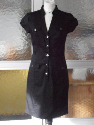 Schwarzes Hemdblusenkleid von H&M 36