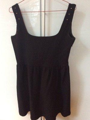 Schwarzes Jaquard-Kleid von Mango