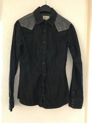 schwarzes Jeanshemd von Wrangler