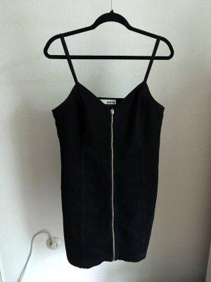 Schwarzes Jeanskleid von Topshop