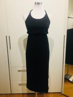 Schwarzes Jersey-Kleid in Größe 34-36
