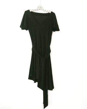 schwarzes jersey kleid / vintage / das kleine schwarze / boho / hippie / blackfashion / classy