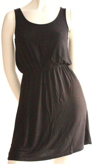 Schwarzes Jersey-Minikleid