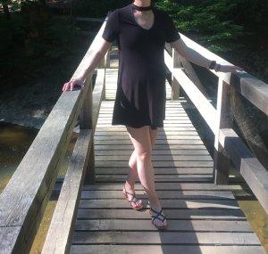 Schwarzes Jersey Sommerkleid