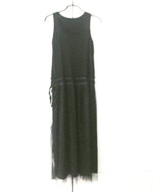 schwarzes jersey / tüll kleid