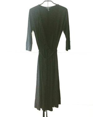 schwarzes jersey wickelkleid / midi / vintage