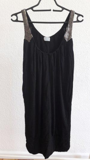 Schwarzes Jerseykleid mit Pailetten